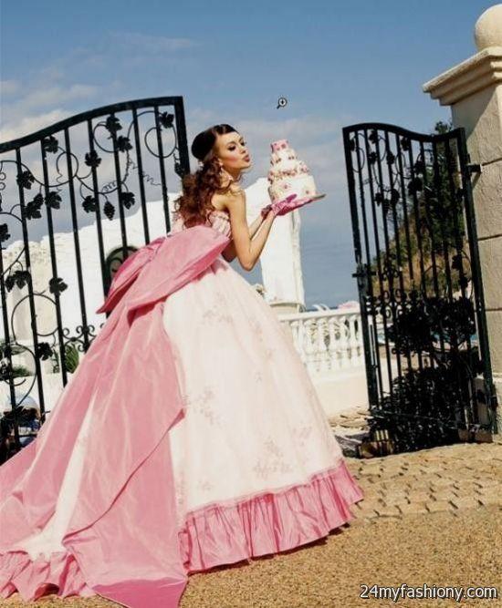 Huge Ball Gown Wedding Dresses Pink 2016-2017