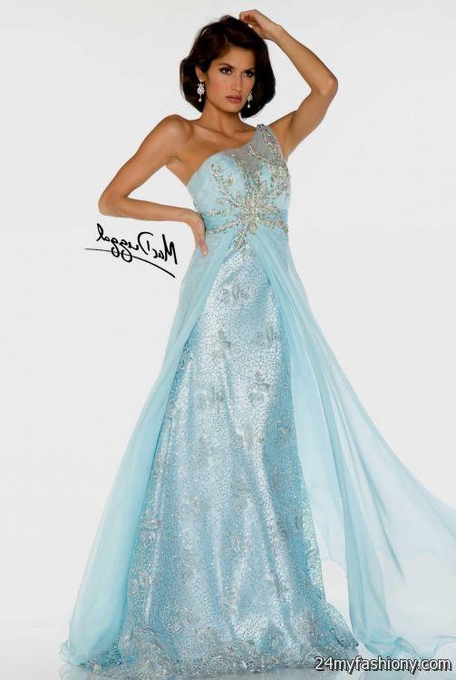 Ice Blue Ball Gown Looks B2b Fashion