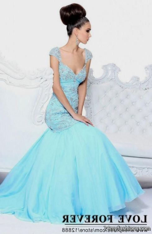 Ice blue mermaid wedding dress 2016 2017 b2b fashion for Ice blue wedding dress