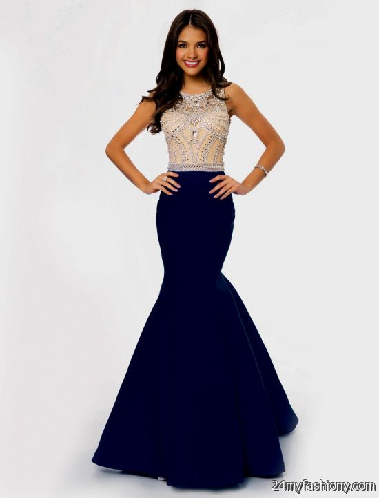 Blue cocktail dresses for prom 2017
