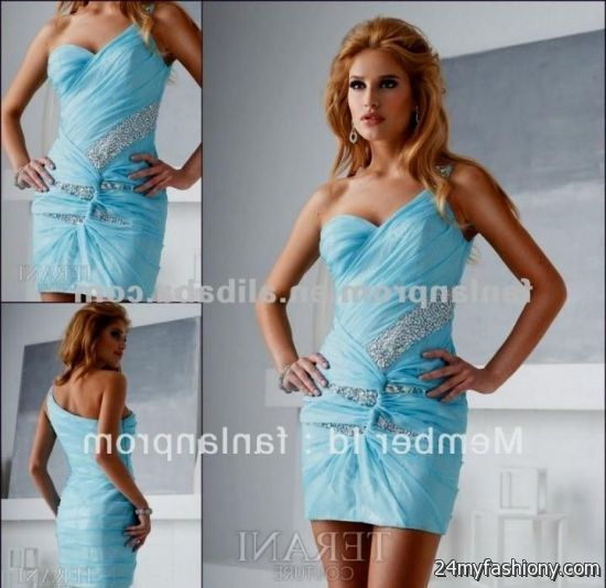 Light blue and silver cocktail dress