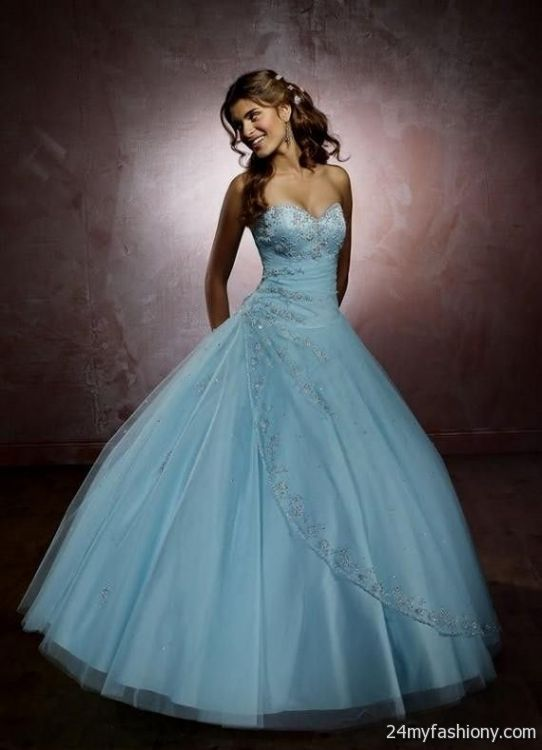 Light Blue Prom Dress Ball Gown
