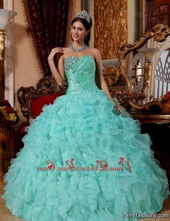 2ca7d0818b5 You can share these light blue sweet 15 dresses on Facebook