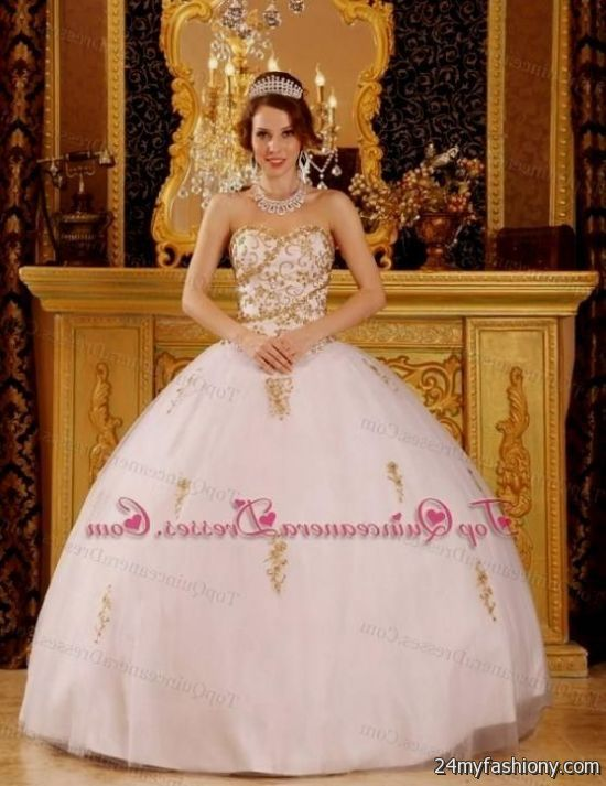 light pink and ... Light Pink And Gold Quinceanera Dresses