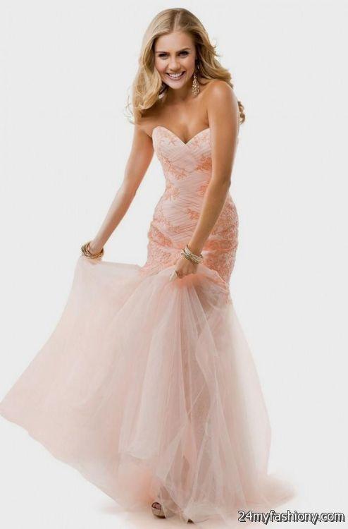 light pink mermaid prom dresses 20162017 b2b fashion