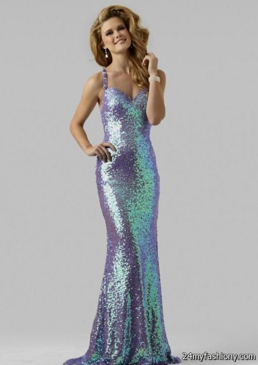 Light Purple Sparkly Prom Dress Looks B2b Fashion