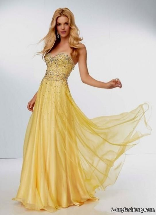Light Yellow Prom Gowns And Dresses - Plus Size Prom Dresses
