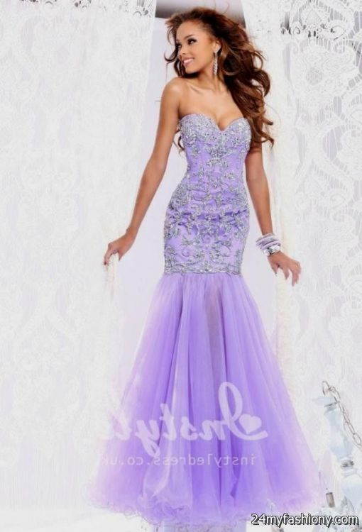 Lilac prom dress strapless 2017