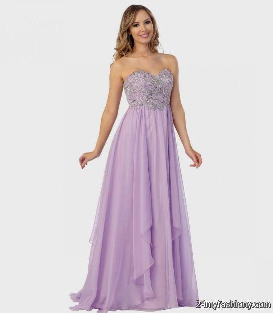lilac prom dress strapless 2016-2017 | B2B Fashion