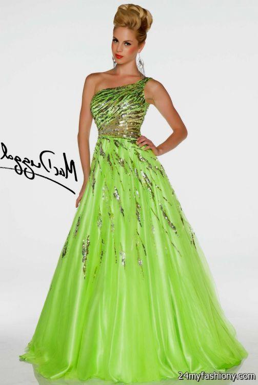 lime green ball gown prom dresses 2016-2017 » B2B Fashion