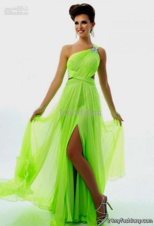 Party Dresses Lime Green 6