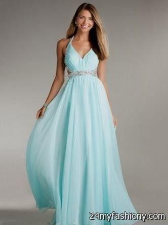 Long strap prom dress