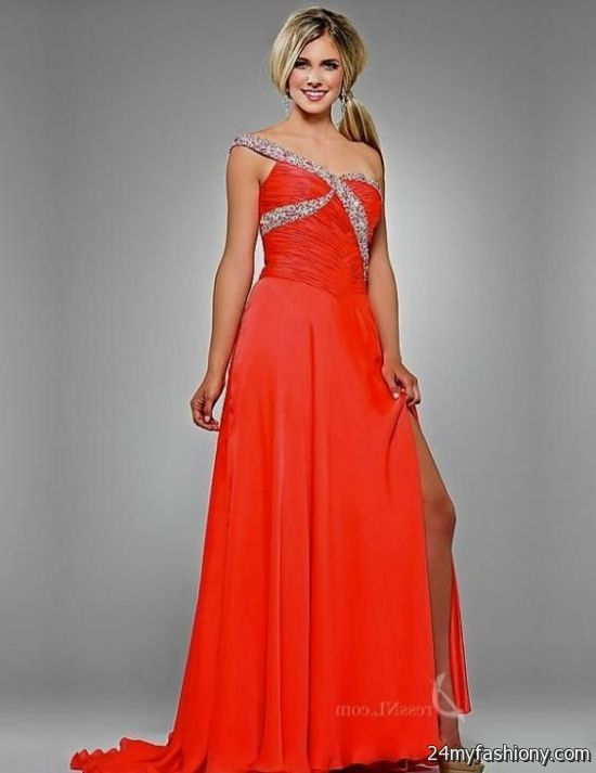 long red one shoulder prom dress 2016-2017 » B2B Fashion