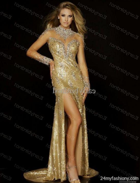 long white and gold prom dresses 20162017 b2b fashion