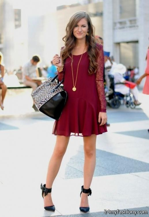 Collection Burgundy Dress Outfit Pictures Rhensi