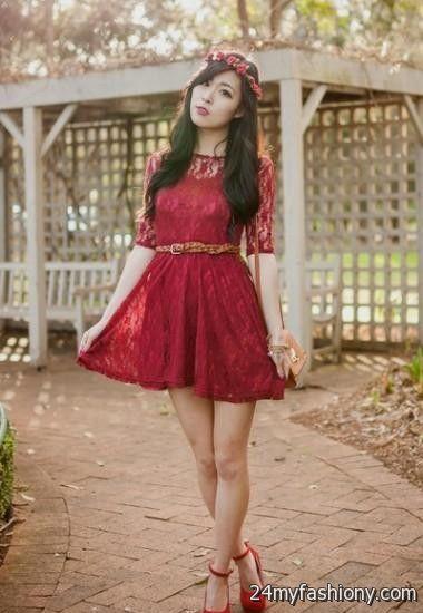 maroon lace dress outfit 2016-2017 » B2B Fashion