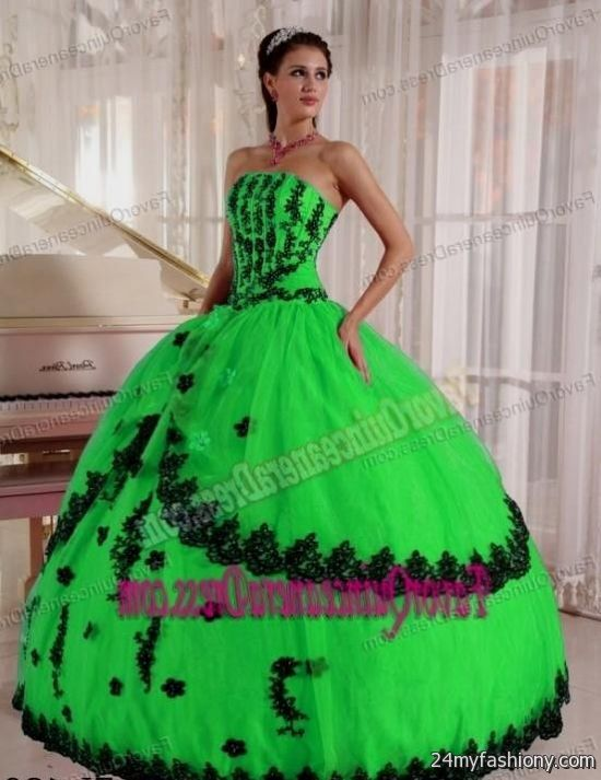 f15b5cda7f You can share these mint green and black quinceanera dresses on Facebook
