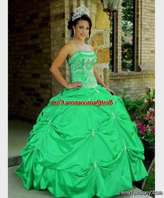 Green princess ball gowns 2017