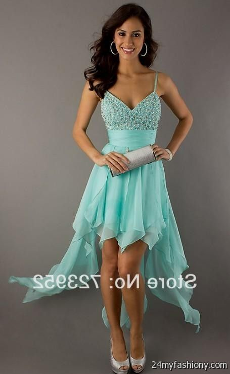 mint green high low prom dresses 20162017 b2b fashion