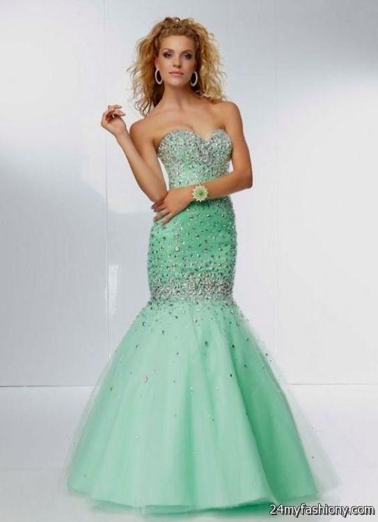 mint green mermaid prom dresses 2016-2017 » B2B Fashion