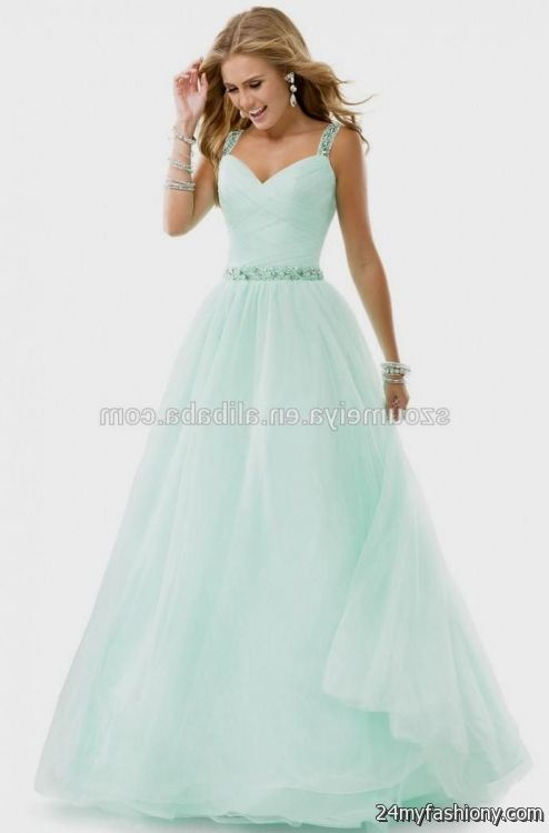 mint green mermaid wedding dress 2016-2017 | B2B Fashion