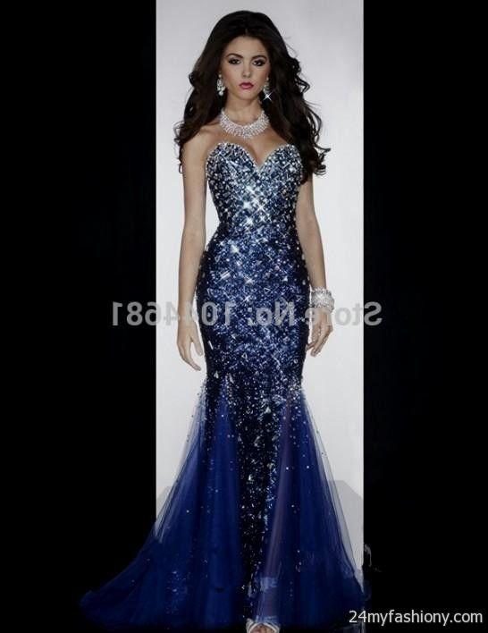 navy blue mermaid prom dress 2016-2017 » B2B Fashion