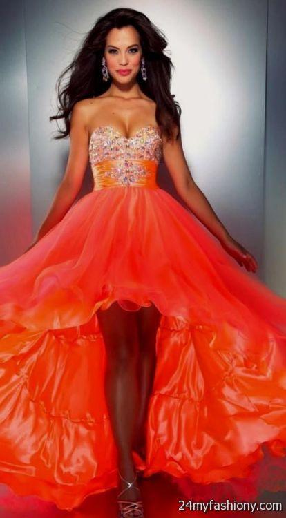 Neon Orange Bridesmaid Dresses