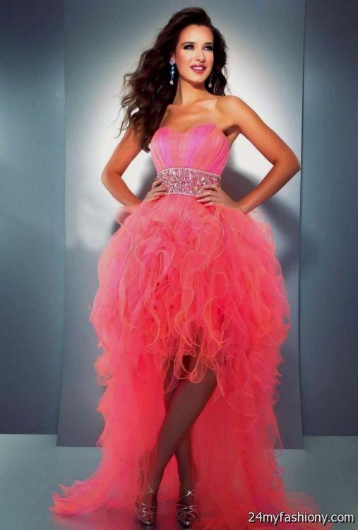 neon coral prom dress 2016-2017 » B2B Fashion