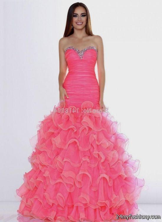 Neon Coral Prom Dress Dillards 2016 2017 B2b Fashion