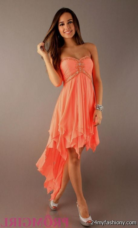 1b7ee50b54f You can share these neon coral prom dress dillards on Facebook