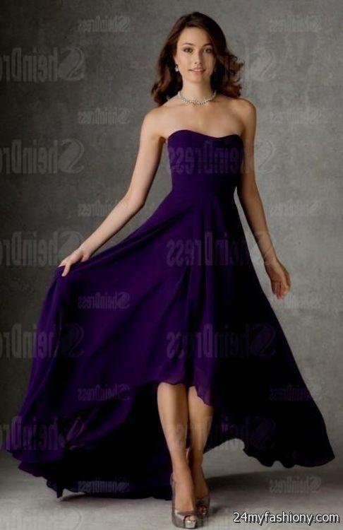 Neon Purple Bridesmaid Dresses