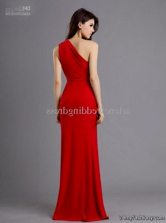 One Shoulder Red Prom