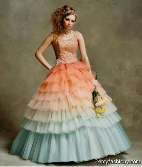 Orange Ombre Wedding Dress Looks