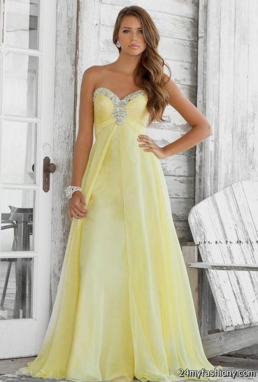 Pastel yellow prom dress