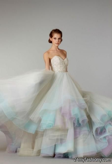 pastel wedding dress 2016-2017 | B2B Fashion