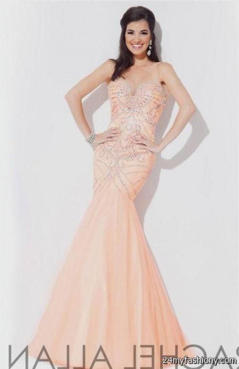 peach mermaid prom dresses 20162017 b2b fashion