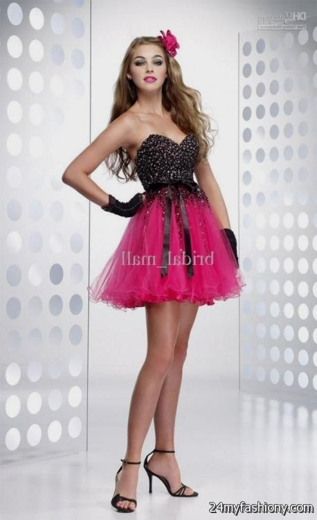 pink and black short sweet 16 dresses 20162017 b2b fashion