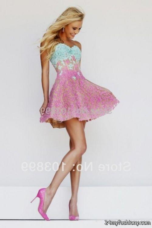 Pink And Blue Prom Dresses 2014 - Missy Dress