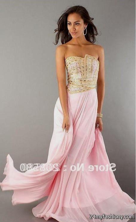 Pink And Gold Prom Dress Looks B2b Fashion