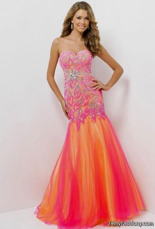 pink and purple mermaid prom dress 2016-2017 » B2B Fashion