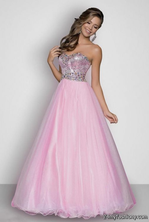 pink and white ball gown wedding dresses 2016-2017 » B2B Fashion