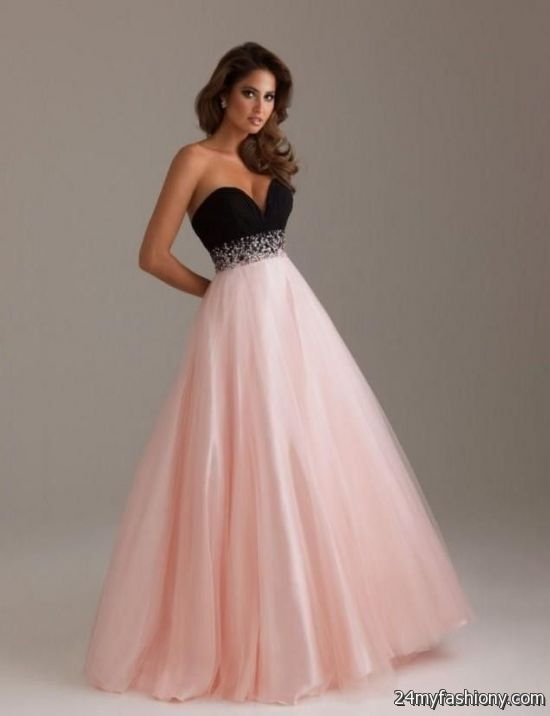 pink black and white wedding dresses 2016-2017