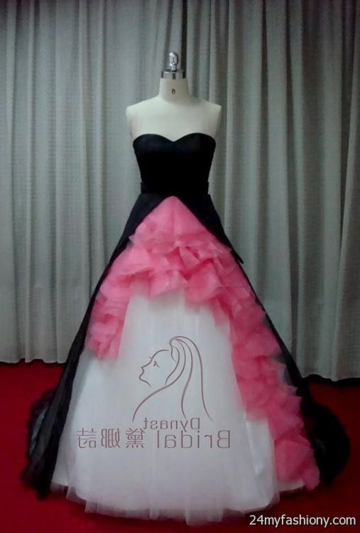 Black white and pink wedding dresses wedding dresses in jax for Black and pink wedding dress