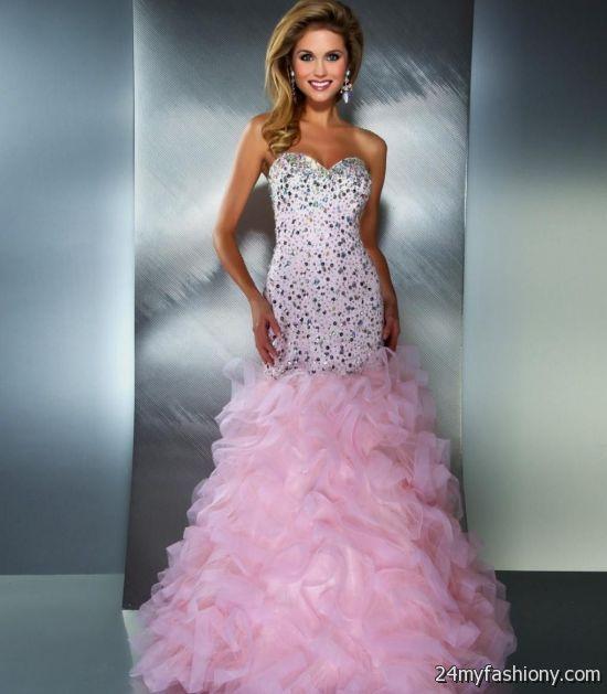 pink mermaid prom dresses looks b2b fashion