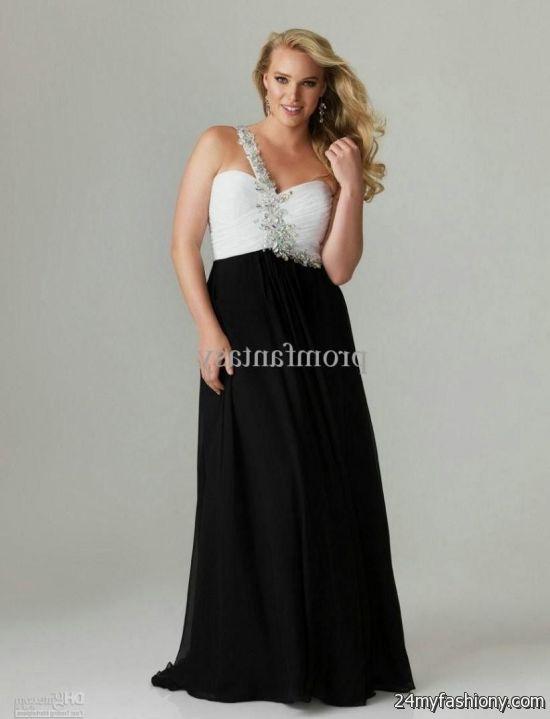 plus size black and white prom dresses 2016-2017   b2b fashion