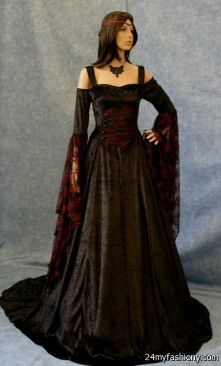 plus size gothic wedding dresses 2016 2017 b2b fashion