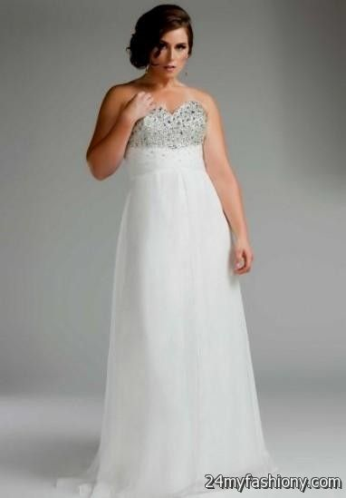 Plus Size Prom Dresses White 2016 2017 B2b Fashion