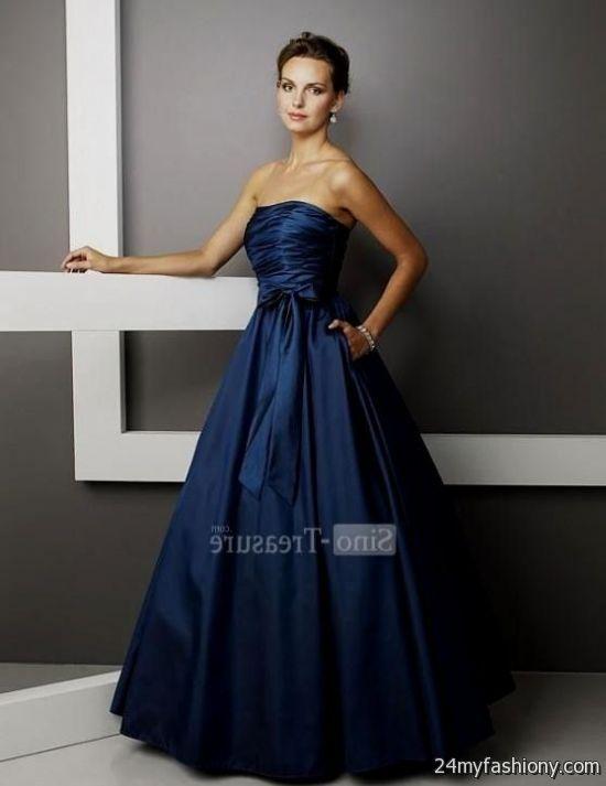 Pretty dark blue prom dresses 2017