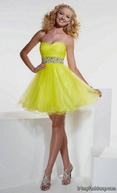 pretty yellow prom dresses 20162017 b2b fashion
