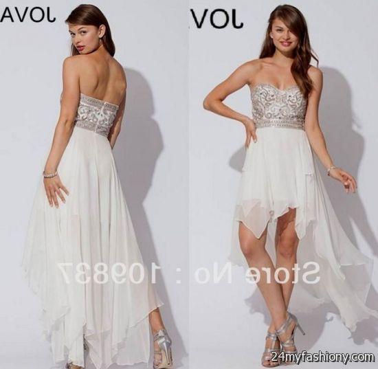 prom dresses high low white 20162017 b2b fashion